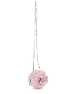 Sac à bandoulière verni orné d'une rose MONNALISA
