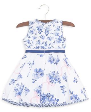 St. Tropez Cruise sleeveless floral poplin dress MONNALISA