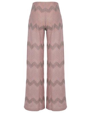 Shiny knit wide-leg trousers M MISSONI