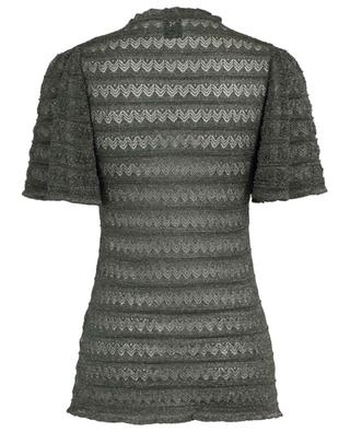 Zigzag pattern crochet-knit short-sleeved top M MISSONI