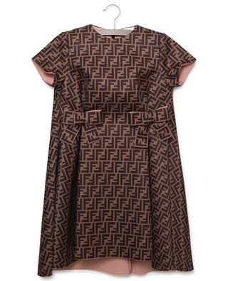 Kurzarm-Kleid aus Neopren mit FF-Muster FENDI