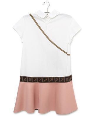 Kleid aus Baumwolle und Neopren mit Taschen-Print FENDI