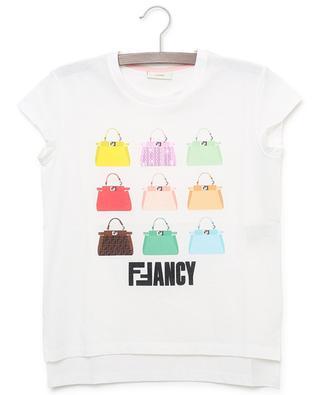 Bag print cotton T-shirt FENDI