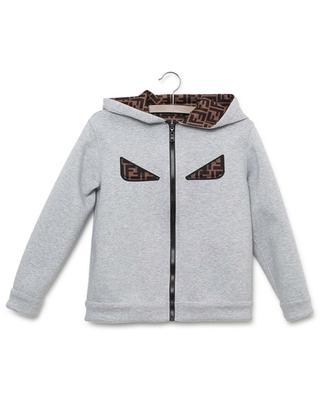 Sweat-shirt zippé à capuche en néoprène motif FF FENDI