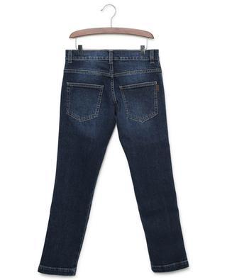Slim-Fit-Jeans aus Baumwollstretch mit Monogramm FENDI