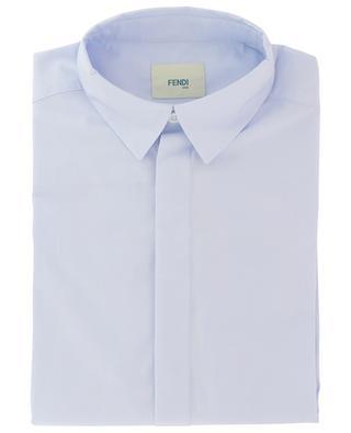 Hemd aus Baumwollpopeline mit FF-Detail FENDI