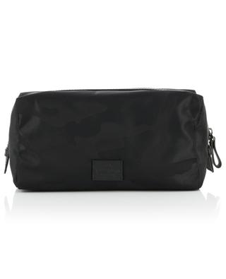 Camouflage nylon and leather toiletry bag VALENTINO