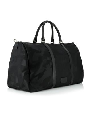 Camouflage nylon and leather travel bag VALENTINO