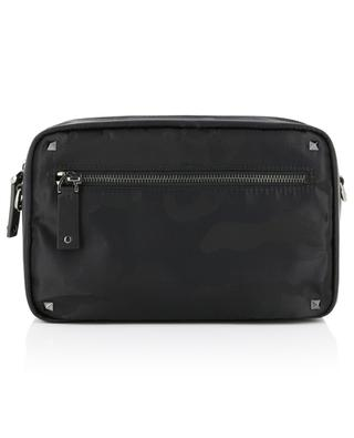 Camouflage messenger bag transformable into a belt bag VALENTINO