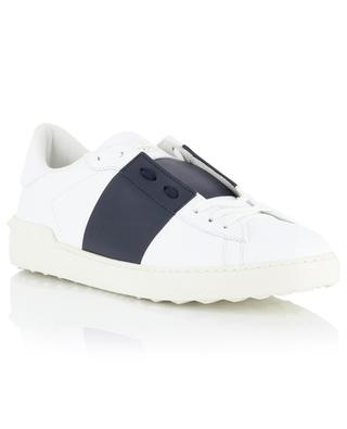 Open leather sneakers with colour block band VALENTINO