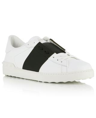 Sneakers aus Leder mit farbigem Band Open VALENTINO