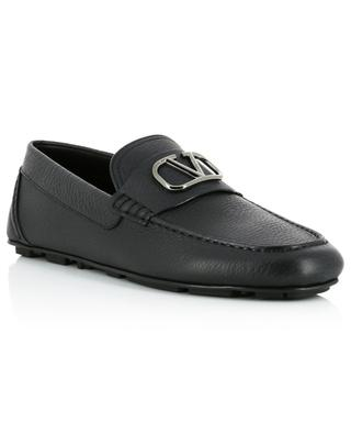 VLOGO textured leather loafers VALENTINO