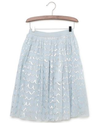 Shell Foil tulle skirt with silver patterns STELLA MCCARTNEY KIDS