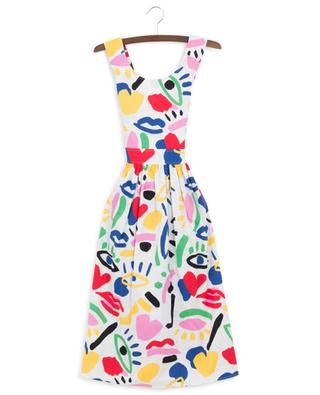 Kleid aus Baumwolle mit Print Graphic Face STELLA MCCARTNEY KIDS