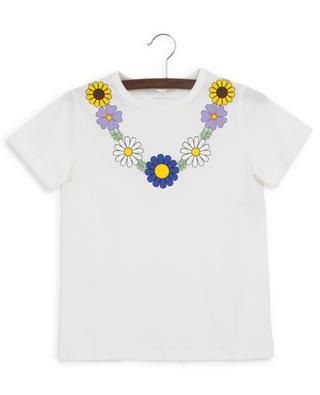 Flower necklace cotton T-shirt STELLA MCCARTNEY KIDS