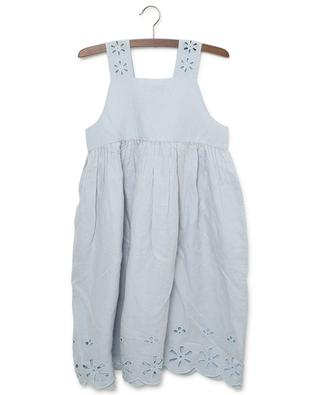 Broderie anglaise linen and cotton dress STELLA MCCARTNEY KIDS