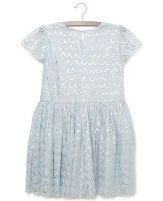 Tüllkleid mit silbernen Motiven Foil Shell STELLA MCCARTNEY KIDS
