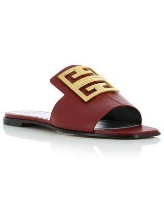 4G grained leather flat slides GIVENCHY
