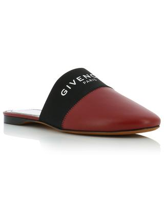 Givenchy Paris leather flat slides with elasticated band GIVENCHY