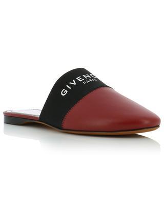 Mules plates en cuir bande élastiquée Givenchy Paris GIVENCHY