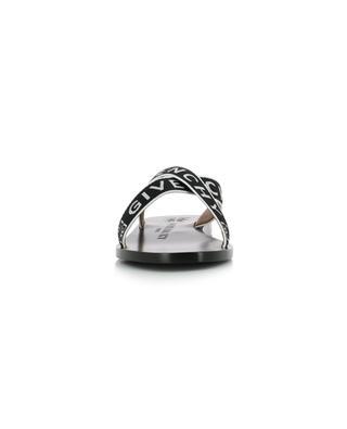 Mules plates en cuir motif Givenchy 4G GIVENCHY