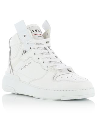 Wing high perforated grained leather sneakers GIVENCHY