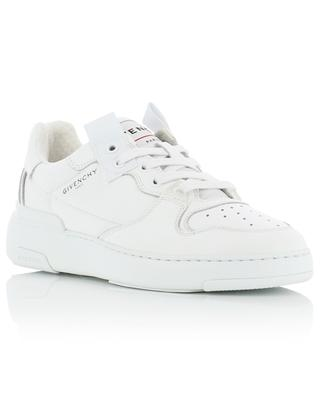 Wing perforated grained leather sneakers GIVENCHY
