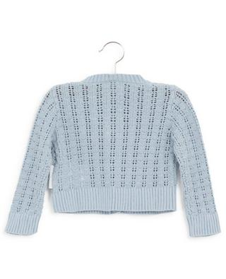 Cardigan ajouré en coton et Lurex STELLA MCCARTNEY KIDS