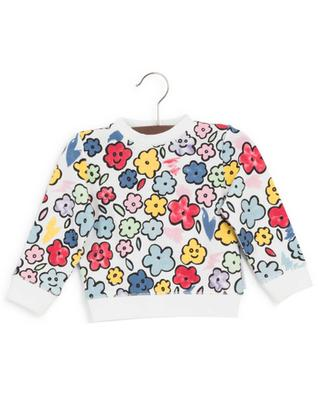 Sweat-shirt en coton fleuri STELLA MCCARTNEY KIDS