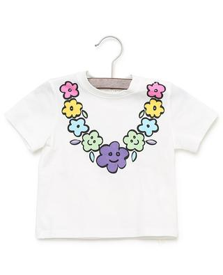 Flower print cotton T-shirt STELLA MCCARTNEY KIDS