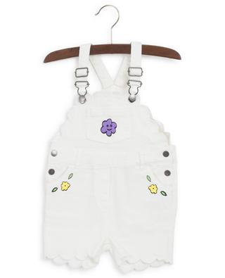 Salopette en denim imprimé de fleurs STELLA MCCARTNEY KIDS