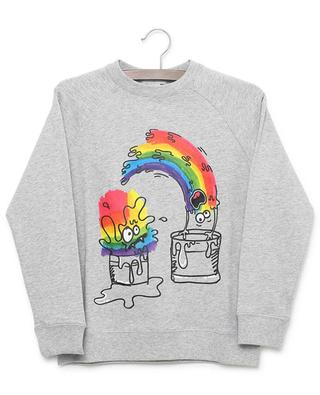 Sweat-shirt en coton imprimé Rainbow Paint Monster STELLA MCCARTNEY KIDS