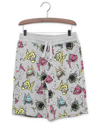 Shorts aus nachhaltigem Jersey mit Print Angry Fish STELLA MCCARTNEY KIDS