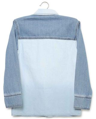 Monsters embroiderd bicolour denim shirt STELLA MCCARTNEY KIDS