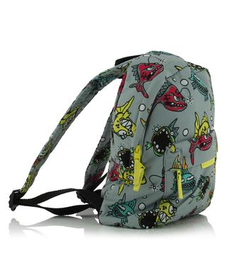 Angry Fish printed small recycled nylon backpack STELLA MCCARTNEY KIDS