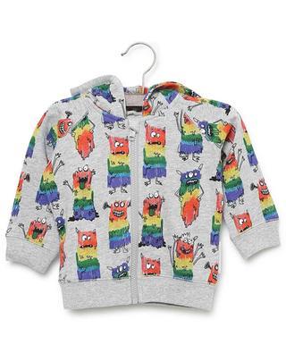 Rainbow Monsters sustainable cotton sweat jacket with hood STELLA MCCARTNEY KIDS