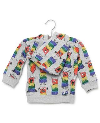 Rainbow Monsters sustainable cotton sweat jacket with hood STELLA MCCARTNEY KIDS