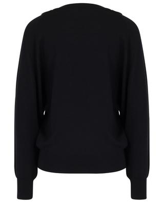 Lightweight lace embellished V-neck jumper CHLOE