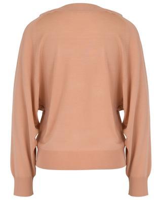 Leichter Pullover mit spitzenbesetztem V-Ausschnitt CHLOE