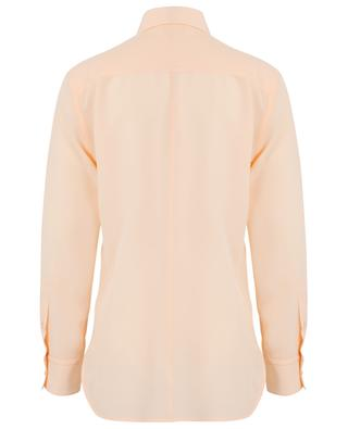 Langes Hemd aus Seide mit Schluppe und Schleifen CHLOE
