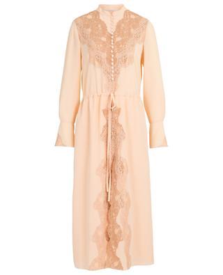 Langes Kleid aus Seide und Spitze CHLOE