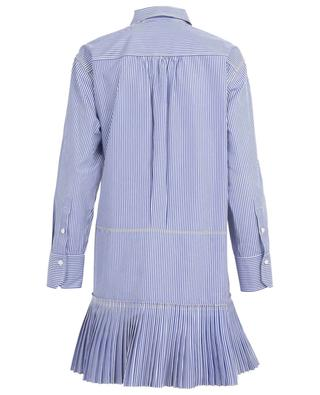 Striped mini shirt dress with pleats and tie-details CHLOE
