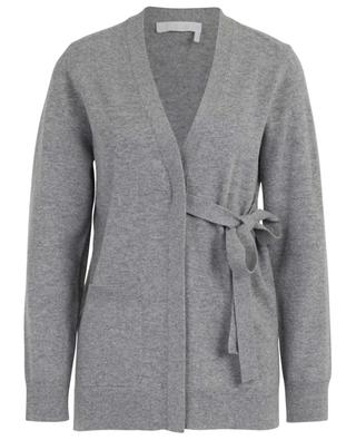 V-neck cashmere cardigan with side tie CHLOE
