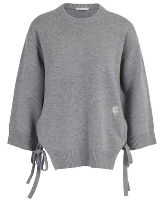 Loose cashmere jumper with side slits and ties CHLOE