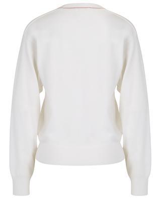 V-Kragen-Pullover mit Monogramm CHLOE