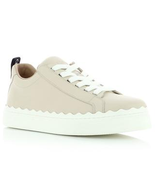 Lauren low-top logo detail leather sneakers CHLOE