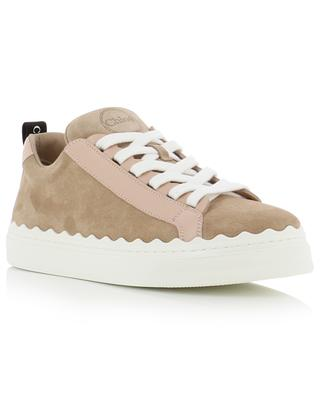 Lauren low-top lace-up suede sneakers CHLOE