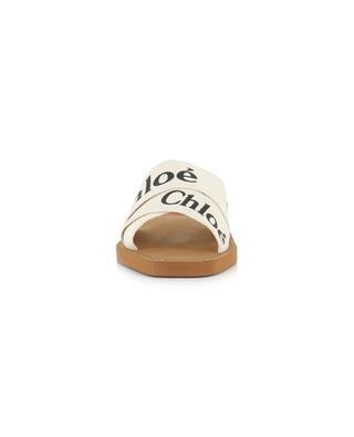Woody flat sandals with logo CHLOE