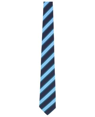 Textured tie with diagonal stripes KITON
