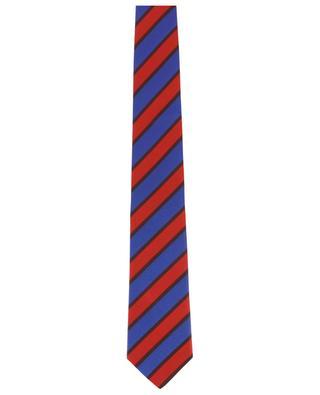Textured tie with diagonal stripes KITON